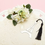 Eiffel Tower Design Stainless Steel Bookmarks With Tassel