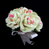 Girly Round Satin Bridesmaid Bouquets (123031366)