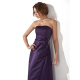 Sheath Sweetheart Ankle-Length Satin Bridesmaid Dress With Ruffle Beading (007020334)