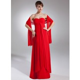 Empire Sweetheart Floor-Length Chiffon Bridesmaid Dress With Ruffle (007000994)