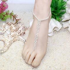 Krystall Glass Foot Smykker Tilbehør