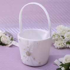 Kaunis/Tyylikäs Flower Basket sisään Satiini jossa Strassit