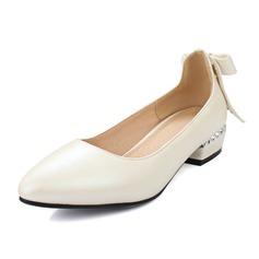 Женщины кожа Низкий каблук Закрытый мыс обувь