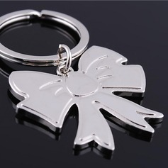 Personalized Bow shaped Zinc Alloy Keychains