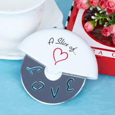"""""""A Slice of Love"""" Stainless Steel Pizza Cutter With Ribbons"""
