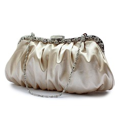 Apricot Gorgeous Silk Party Handbags/ Clutches More Colors Available (012005562)