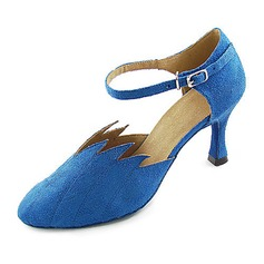 Women's Fabric Velvet Heels Pumps Modern With Ruched Dance Shoes