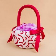 Lovely Flower Basket sisään Satiini jossa Kirjonta