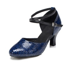 De mujer Piel Salón Moderno con Tira de tobillo Zapatos de danza