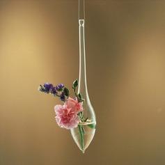 Элегантный повешение/капли воды образный стекло ваза