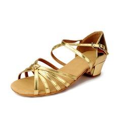 De mujer Niños Cuero Tacones Sandalias Danza latina con Tira de tobillo Zapatos de danza