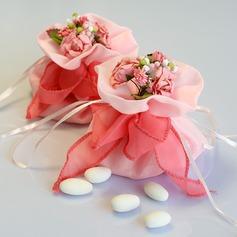Precioso Bolsos de regalos con Flores/Cintas (Juego de 12)