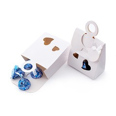 Double Heart Favor Boxes With Ribbons (Set of 12)