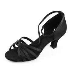 Satin Heels Sandals Latin Ballroom Dance Shoes (053012980)
