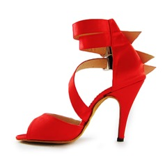 Satin Heels Sandals Latin Dance Shoes (053011485)