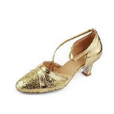 Sparkling Glitter Heels Sandals Modern Ballroom Dance Shoes (053013200)