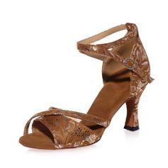 De mujer ante Tacones Sandalias Danza latina con Tira de tobillo Zapatos de danza