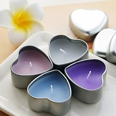 Lovely Candle With Heart Shaped Tin Holder (More Colors)(096017765)