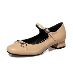 Naisten Keinonahasta Chunky heel Suljettu toe kengät