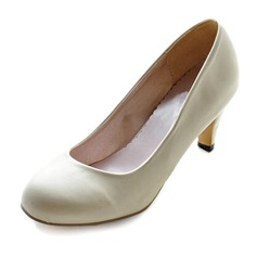 Leatherette Stiletto Heel Closed Toe Pumps Wedding Shoes (047011832)