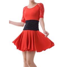 Mulheres Roupa de Dança Renda Dança Latina Vestidos