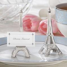 Torre de Eiffel Projeto Resina Titulares do cartão do lugar (Conjunto de 6)