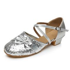De mujer Niños Brillo Chispeante Tacones Salón Estilo Moderno con Tira de tobillo Zapatos de danza