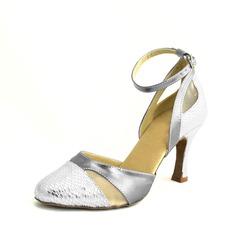 De mujer Cuero Tacones Danza latina con Tira de tobillo Zapatos de danza