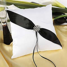 Shimmering Twilight Wedding Ring Pillow In Black And White(103018290)