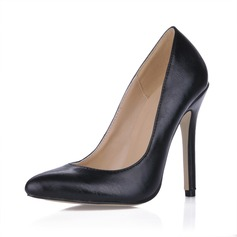Leatherette Stiletto Heel Pumps Closed Toe shoes