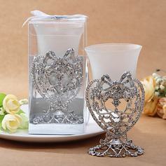 Silver Bow and Heart Candle Votive Holder(096017613)