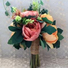 Attractive Hand-tied Artificial Silk/Linen Rope Bridal Bouquets