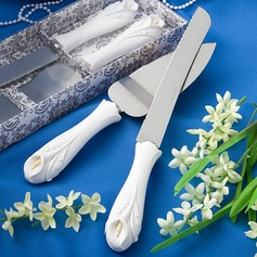 Greenish Lily Flower Design Serving Sets