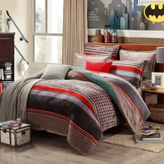 Modern/Contemporary Flannel Comforters (4pcs :1 Duvet Cover 1 Flat Sheet 2 Shams)