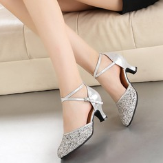 Women's Leatherette Sparkling Glitter Heels Modern Dance Shoes
