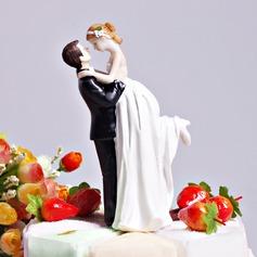 """""""Love Swept"""" Resin Wedding Cake Topper"""