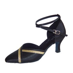 De mujer Satén Tacones Salón Moderno con Tira de tobillo Zapatos de danza