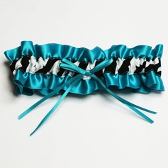 Satin Bridal Garter With Zebra Print (104019296)