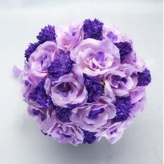 Romantic Round Satin/Cotton Bridal Bouquets