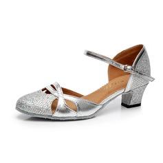 De mujer Brillo Chispeante Tacones Moderno con Tira de tobillo Hebilla Zapatos de danza