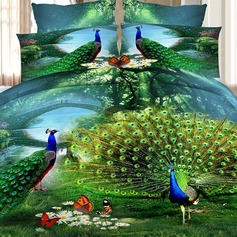 Traditional/Classic Polyester Comforters (4pcs :1 Duvet Cover 1 Flat Sheet 2 Shams)
