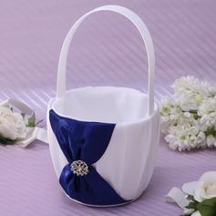 Kaunis Flower Basket sisään Satiini jossa Strassikivi