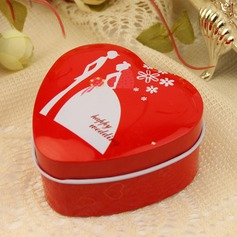 """Happy Wedding"" Heart-shaped Favor Tin (Set of 12)"
