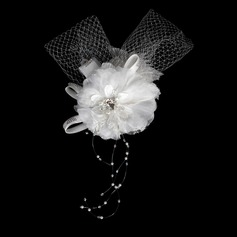 Fashion Crystal Satin Net Flowers