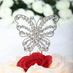 Beautiful Butterfly Chrome Bridal Shower Cake Topper