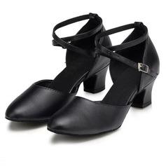 De mujer Piel Tacones Salón Moderno con Tira de tobillo Zapatos de danza