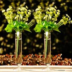 Rohr Geformte Glas Vase