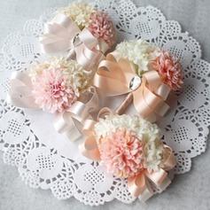 Attractive Fita/Seda artificiais Conjuntos de flores (conjunto de 2) - Buquê de pulso/Alfinete de lapela
