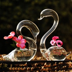 элегантный лебедь стекло ваза (набор из 2)
