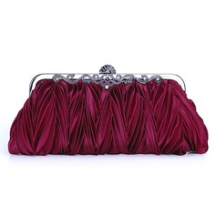 burgundy Gorgeous Silk Evening Clutches More Colors Available (012005431)